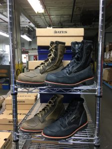 Made in USA PowerSports boots in our Big Rapids, MI factory.