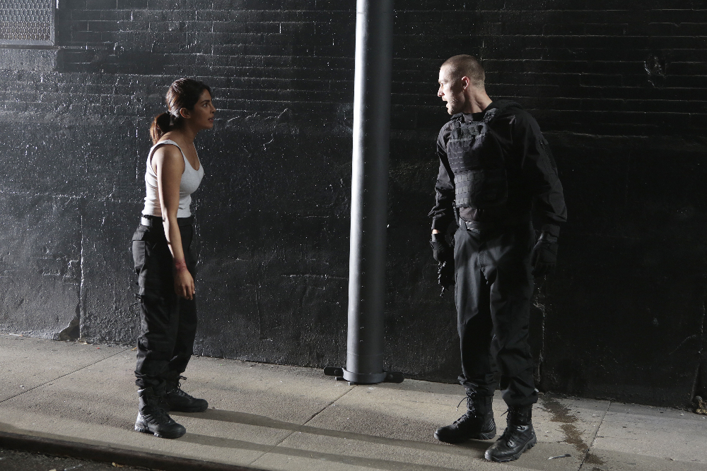 "Priyanka Chopra wearing the Bates Tactical Sport and Jake McLaughlin wearing the GX-8 in ""Quantico"" Photo by Giovanni Rufino/ABC - © 2016 American Broadcasting Companies, Inc. All rights reserved."