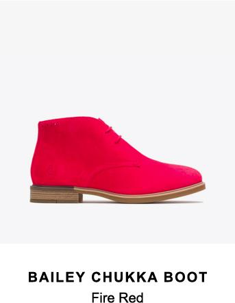 Bailey Chukka Boot | Fire Red