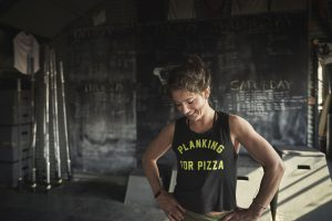 Merrell Ambassador Jennifer Tavernier (who did have well-earned pizza that night)