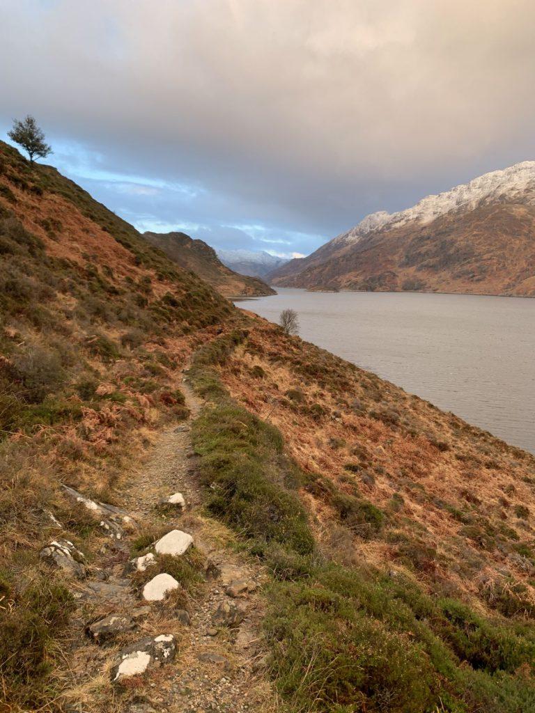 Scottish Munros landscape of mountains and lake