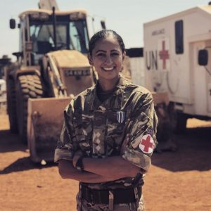 Preet Chandi in her Army uniform. Credit Preet Chandi