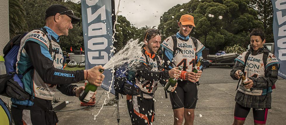 GODZone finishing celebrations