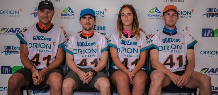 Godzone, Team Merrell Alpha Pack line up for the start