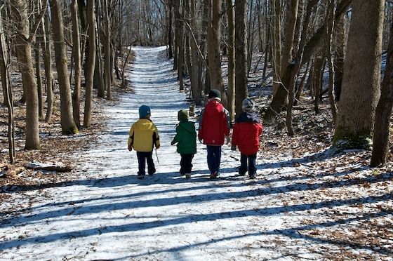 winter family hike
