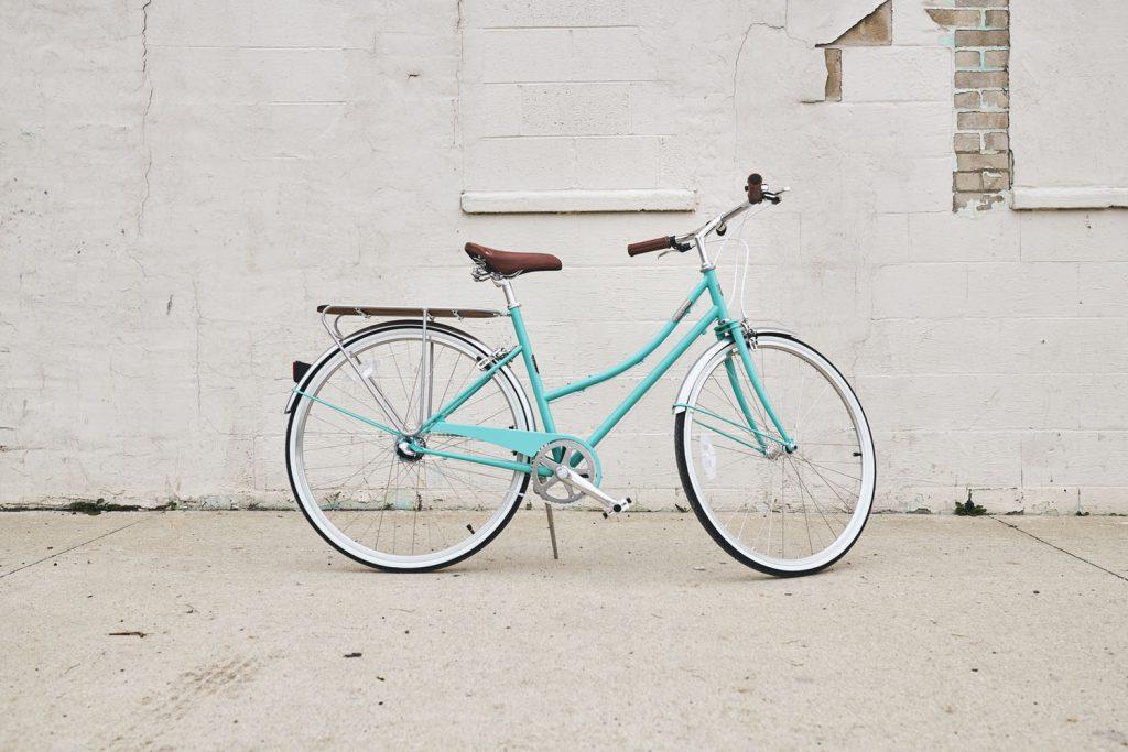 turquoise bike