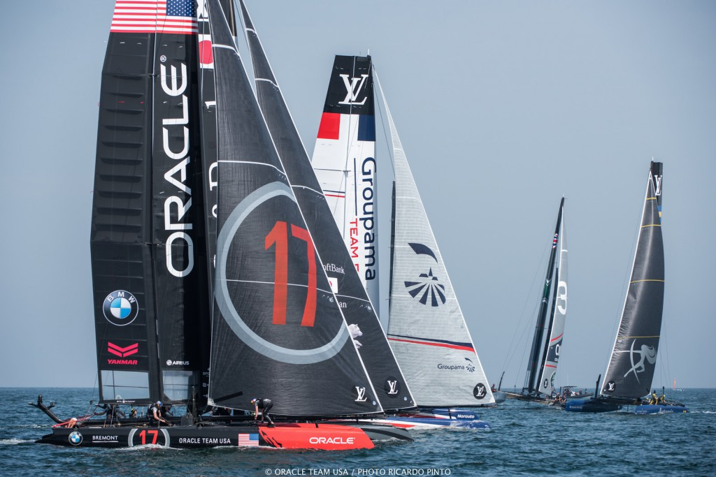 27/02/16 - Muscat (OMN) - 35th America's Cup Bermuda 2017 - Louis Vuitton America's Cup World Series Oman - Racing Day 1